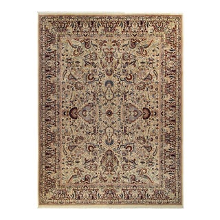 Aness Pak-Persian Kristie Ivory & Dark Red Wool Rug - 9'11 X 13'5