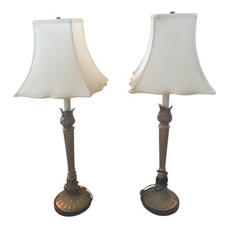 Tulip Shade Lamps - A Pair