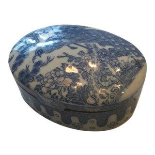 Antique Japanese Arita Ware Porcelain Lidded Box