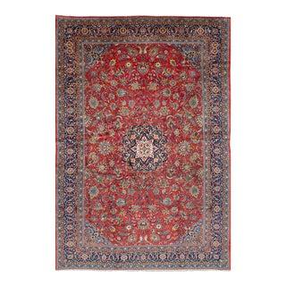 "SAROUGH Vintage Persian Rug, 10'1"" x 15'2"" feet"