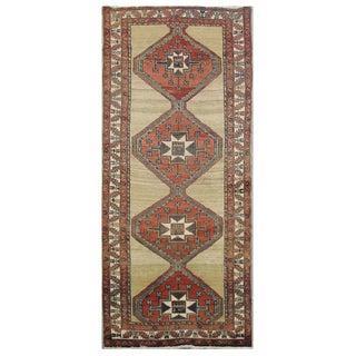 Vintage Persian Sarab Rug - 3′10″ × 10′8″