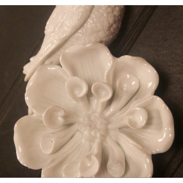 Image of Porcelain & Brass Birds Wall Mount Hooks - Pair