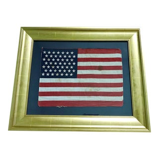 Authentic 49 Star Professionally Framed American Flag Rare Original