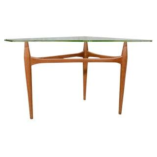 1960's Italian Walnut Tripod End Table