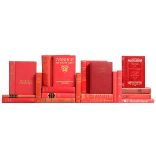 Distressed Red Classic Books - S/20