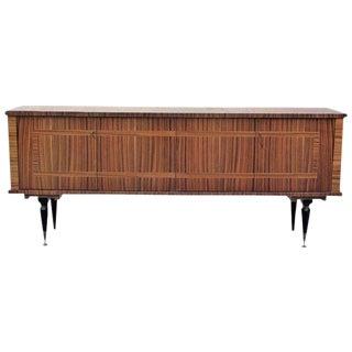 1940s Vintage French Art Deco Macassar Ebony Sideboard or Buffet/Bar