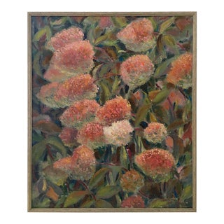 "Maria Gertsman 1963 ""Flowers"" Oil on Canvas Painting"