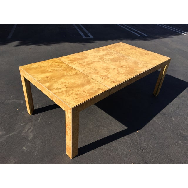 Burl Coffee Table Legs: 1970's Burl Wood Milo Baughman Style Dining Table