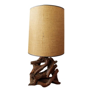 Mid-Century Free Form Driftwood Table Lamp