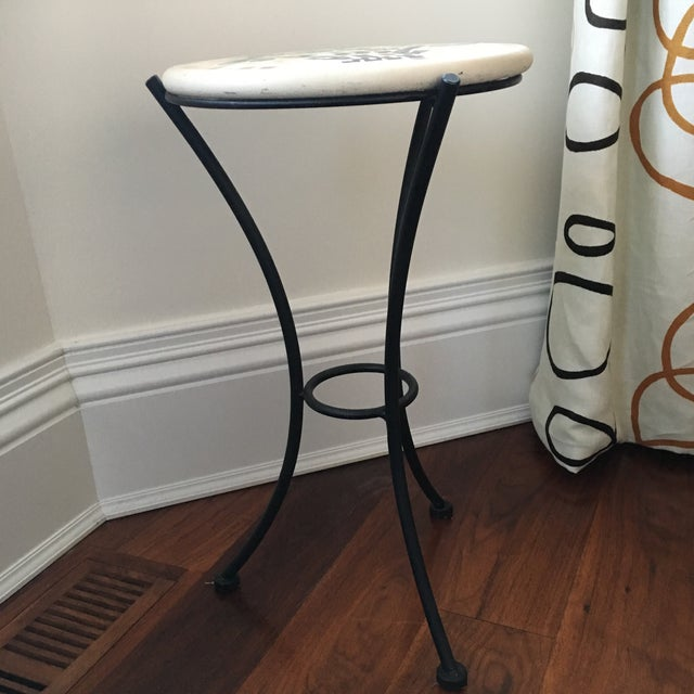 Mosaic & Iron Garden Table - Image 3 of 4