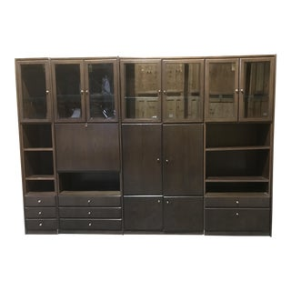 1985 Vintage Mark Hampton Designed Custom Four Wall Unit with Bar