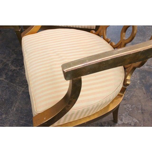 Regency Gold Leaf Barrel Chairs - Set of 4 - Image 7 of 8