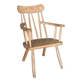 Antique 19th Century English Primitive Welsh Folk Art Stick Chair