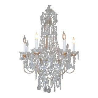 Crystal & Gold Gilt 8 Light Chandelier