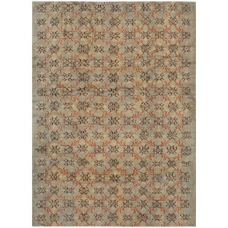 Neutral Wool Pile Turkish Rug - 5' x 7'