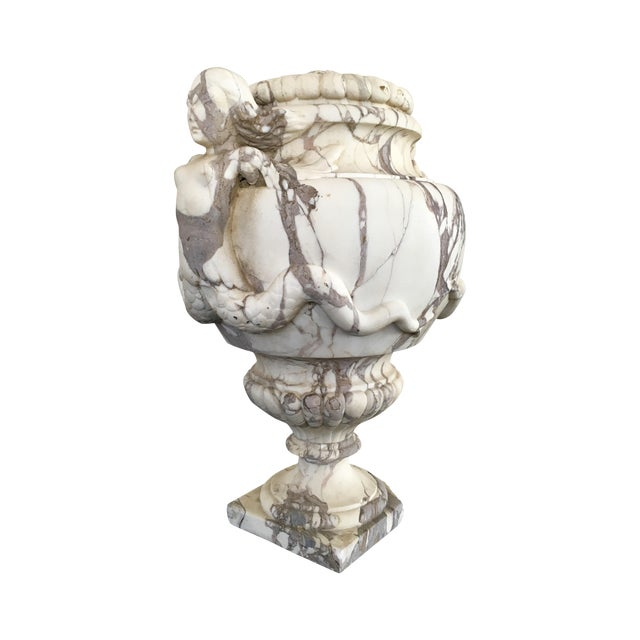 Image of Marble Lidded Urn, Circa 1900