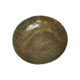 Gold Art Glass Bowl