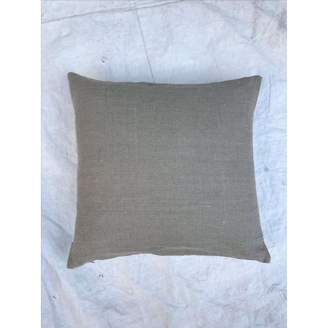Grey & White Arrow Mud Cloth Textile Pillow - Image 6 of 6