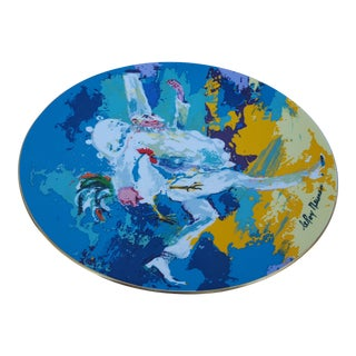 1978 Leroy Neiman -PUNCHINELLO - Colorful Decorative Ceramic Plate .