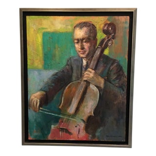 """Steve on Cello"" Oil on Canvas Painting"