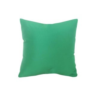 Contemporary Green Silk & Viscose Pillow