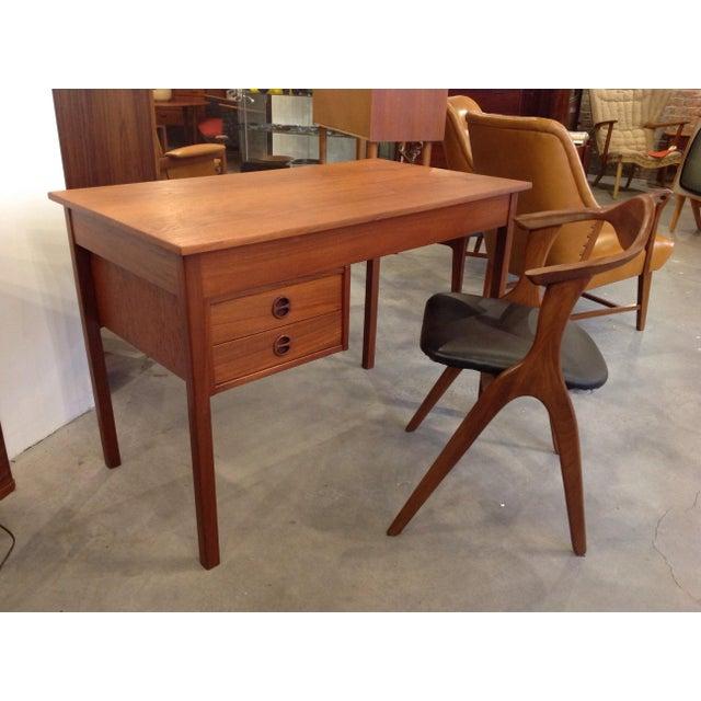 Danish Teak Desk - Image 9 of 9