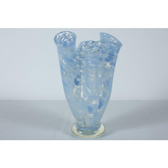 Image of Vintage Freeform Ruffled Edge Vase