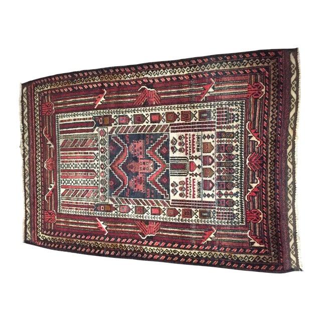 "Turkaman Persian Rug, 2'5"" x 4'1"" - Image 1 of 8"