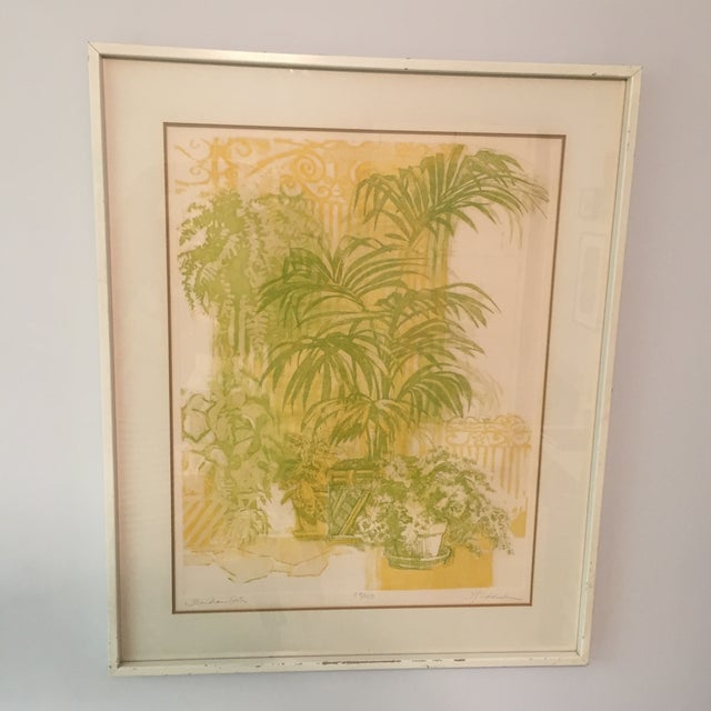"""Floridian Gates"" Framed Intaglio Etching - Image 2 of 10"