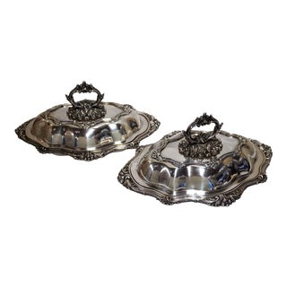 Sheffield Silver-Plated Covered Vegetable Tureen