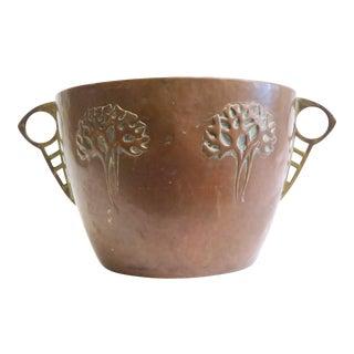 Vintage Hammered Copper Planter