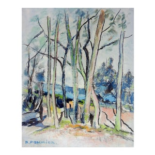 Modernist French Landscape Oil Painting