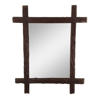 Vintage French Wood Carved Mirror