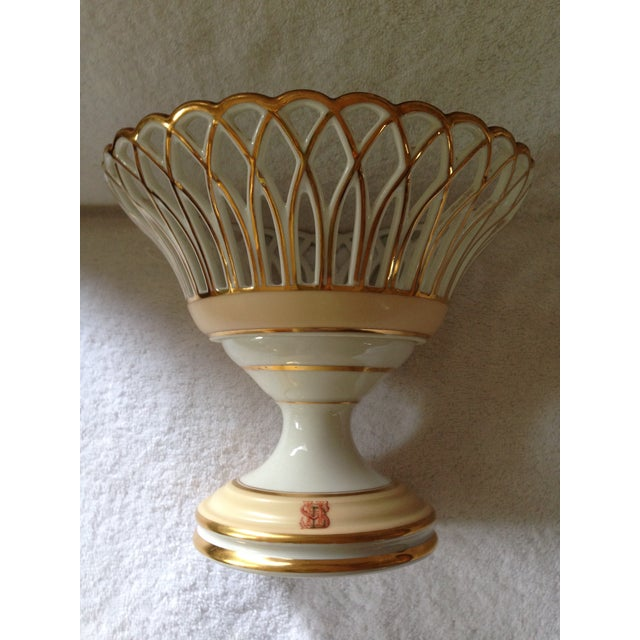 19th Century French Porcelain Corbeille - Image 5 of 5