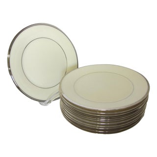 Lenox Solitaire Platinum Band Dessert Plates - Set of 11