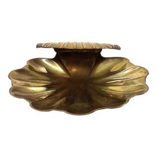 Vintage Solid Brass Scallop Soap Dish/Trinket Holder