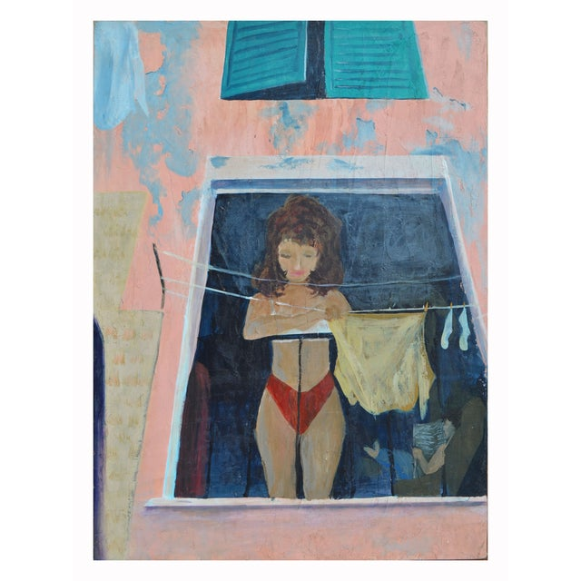 """Image of """"Hanging the Laundry"""" by Sandra LaBou"""