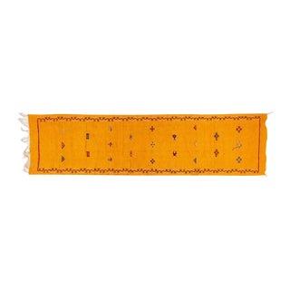 Mustard Handwoven Moroccan Berber Rug - 2′1″ × 8′