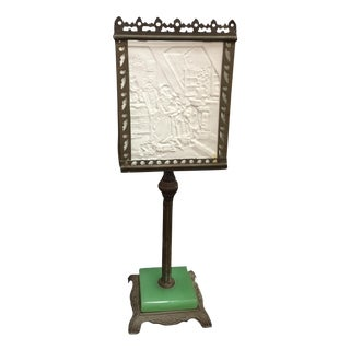 Antique 19th C. Lithoplane Table Lamp