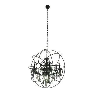 Restoration Hardware Foucault's Orb Smoke Crystal Chandelier 32""