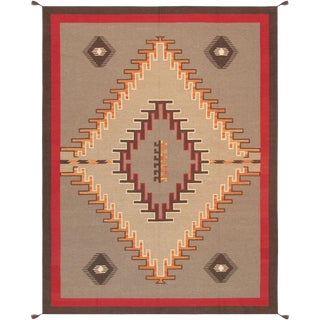 "Navajo Style Hand-Woven Area Rug - 8'11"" X 11'10"""