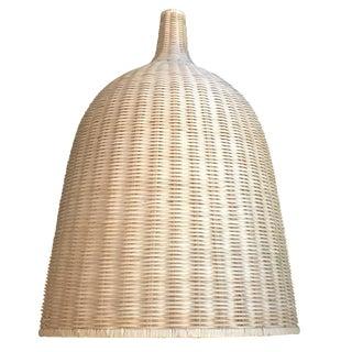 Large Cream Bamboo Rattan Lantern / Hanging Ceiling Lamp