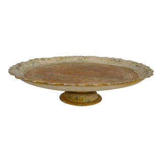 Italian Florentine Lazy Susan Serving Tray