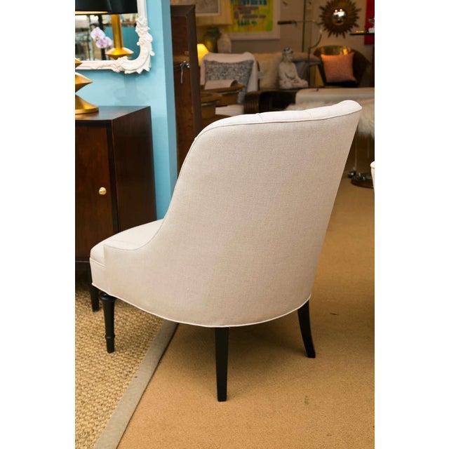 Mid-Century Slipper Chairs, Pair - Image 5 of 8