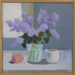 Lilac with Peach and Creamer by Anne Carrozza Remick