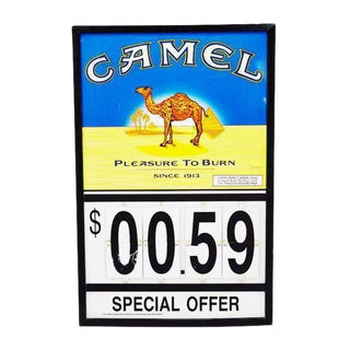 Camel Cigarettes Advertising Sign