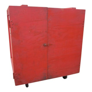 Large Red Rolling Box