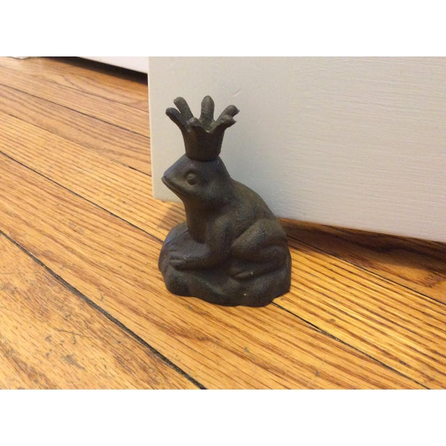 Cast Iron Frog Prince Door Stopper - Image 4 of 4
