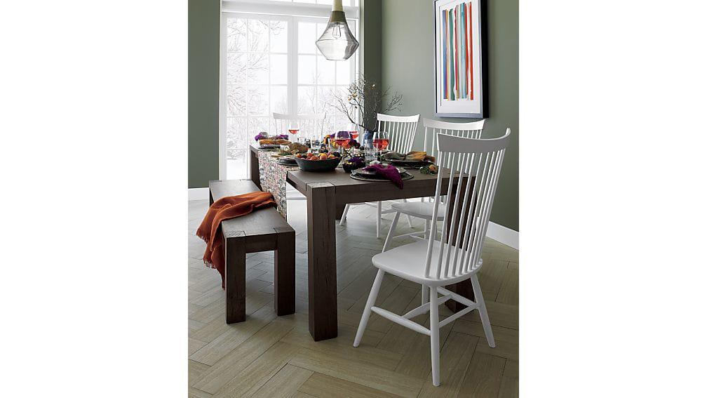 Crate U0026 Barrel Big Sur Dining Table With Bench   Image 2 ...