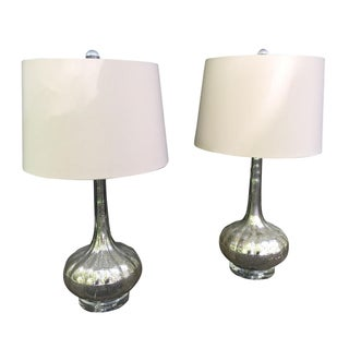 Regina-Andrews Antiqued Glass Lamps - A Pair